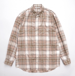 AURALEE 「 WOOL RECYCLED POLYESTER CLOTH SHIRTS / BEIGE CHECK 」