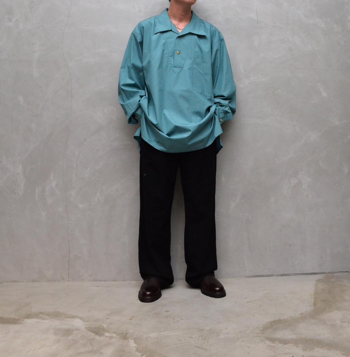 Marvine Pontiak shirt makers 「 Auggie P/O SH - Aomidori 」