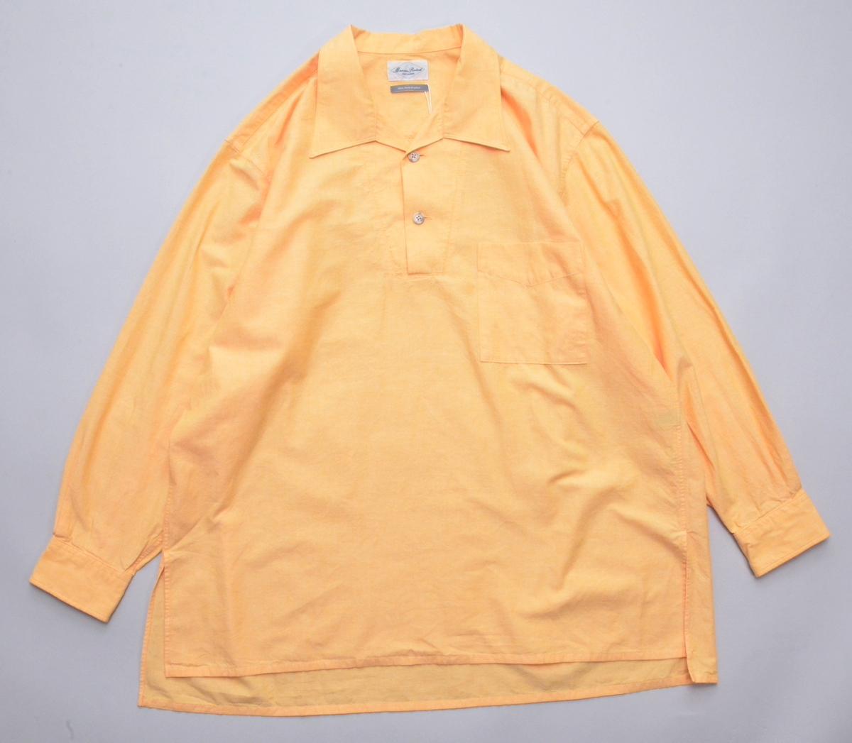 Marvine Pontiak shirt makers 「 Auggie P/O SH - Sherbet Orange 」