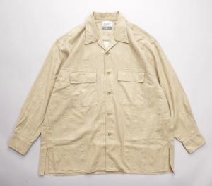 Marvine Pontiak shirt makers 「 Open Collar SH / Beige 」