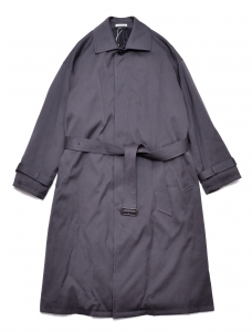 AURALEE 「 WASHED FINX CHAMBRAY TWILL SOUTIEN COLLAR PADDED COAT 」