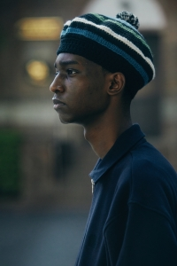 COMFORTABLE REASON 「Stripe Tam O'Shanter Hat / BLACK×BLUE」