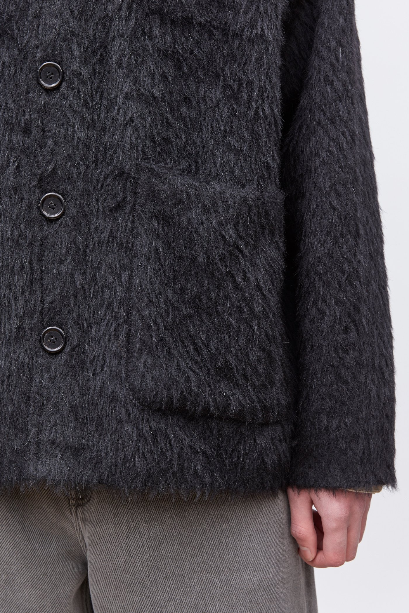 OUR LEGACY  「 CARDIGAN / BLACK MOHAIR 」