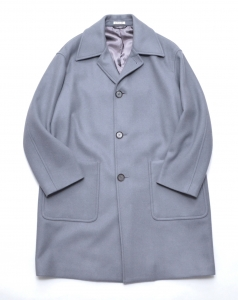 AURALEE 「 DOUBLE CLOTH LIGHT MELTON SOUTIEN COLLAR COAT 」