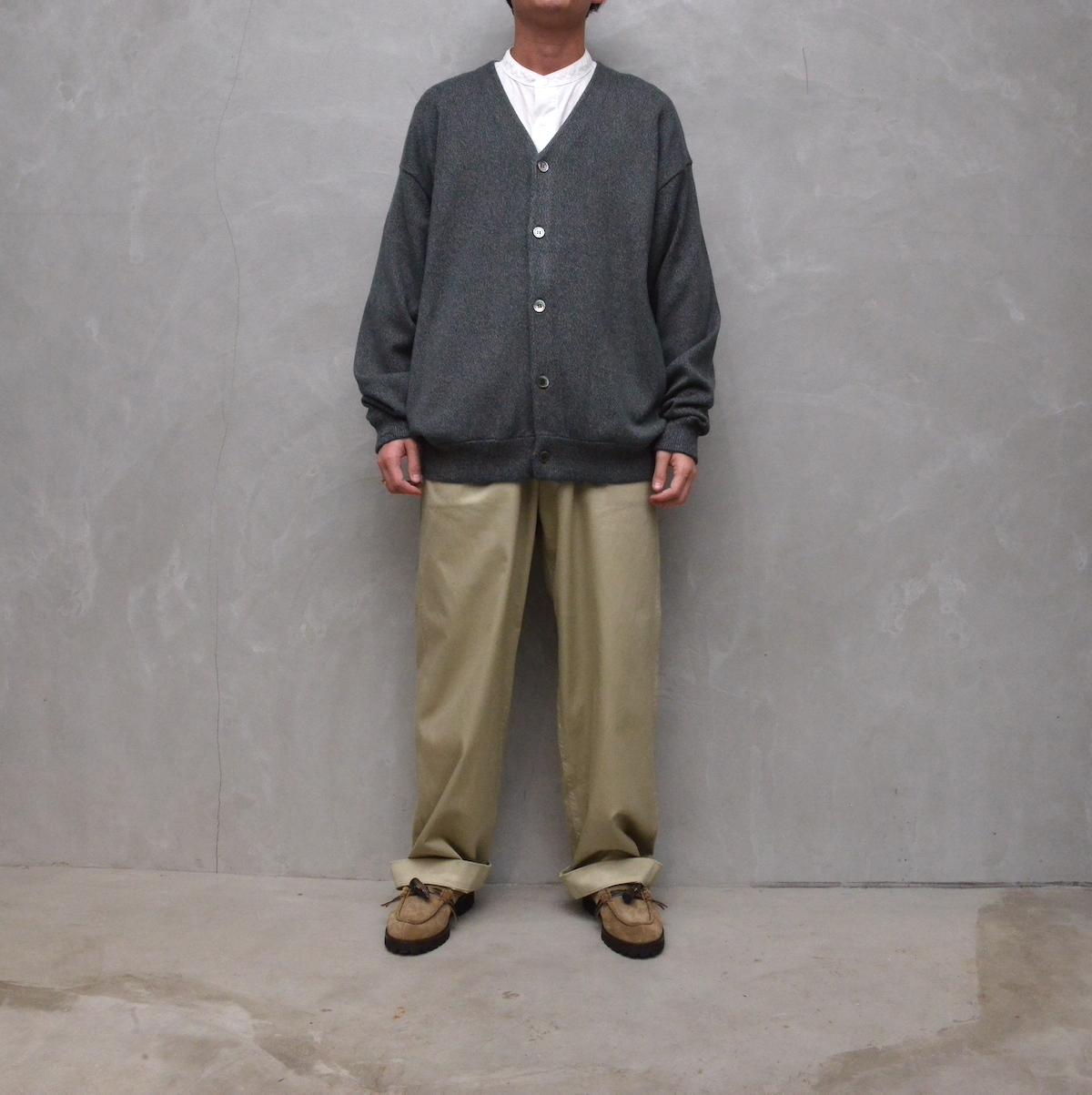 crepuscule 「Cardigan / Green × Brown 」