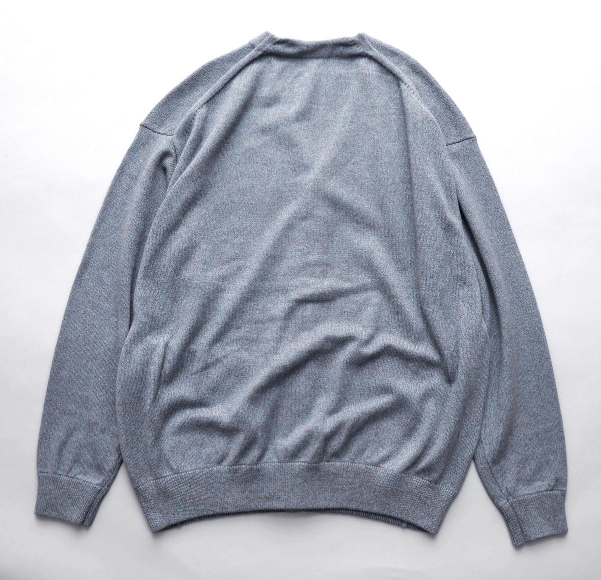 crepuscule 「Cardigan / Blue × Brown 」