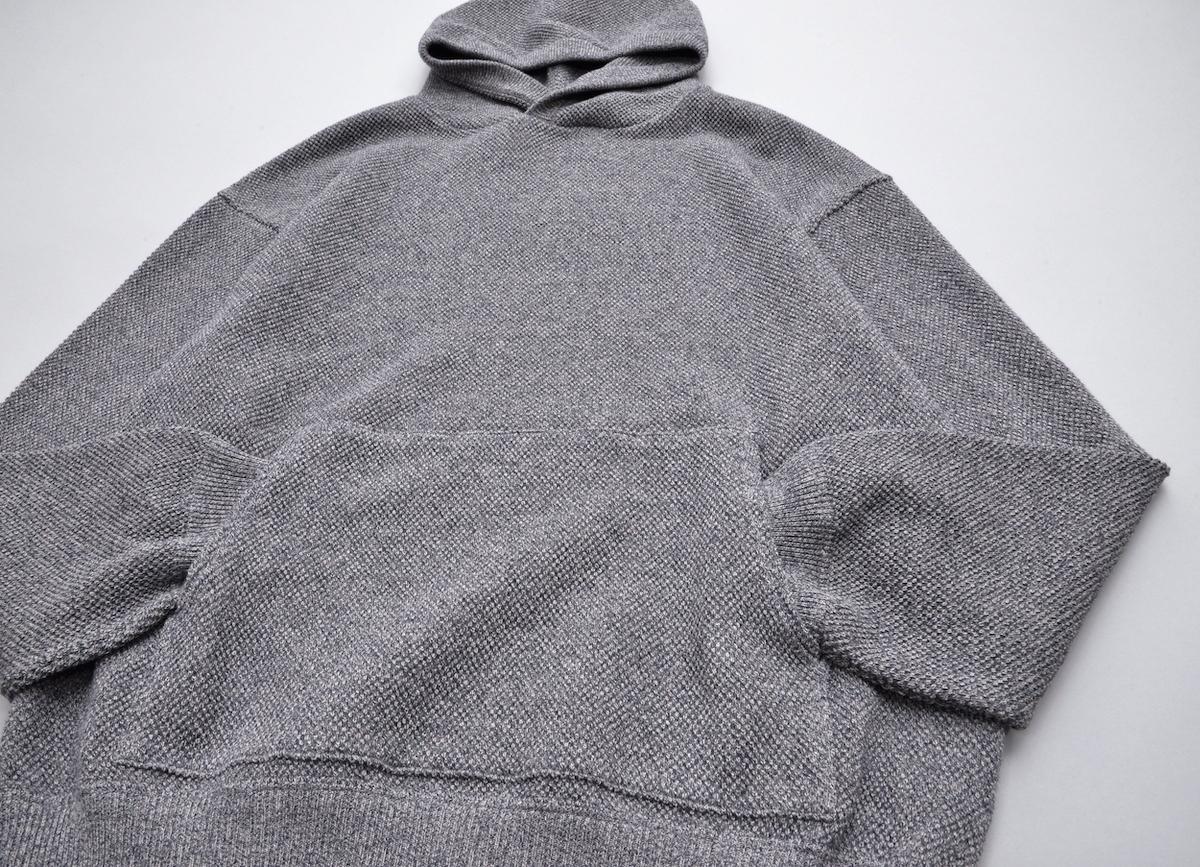 crepuscule 「 Moss stitch hoodie / Black 」