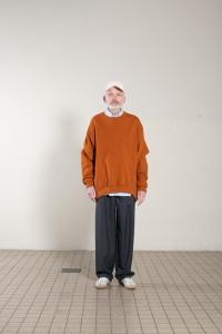 CAMIEL FORTGENS 「12.02.01 CREW NECK COTTON JERSEY HEAVY / ORANGE」