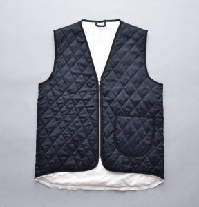 CAMIEL FORTGENS 「12.05.02 QUILTED WORKER VEST VISCOSE WOVEN DOWN / NAVY」
