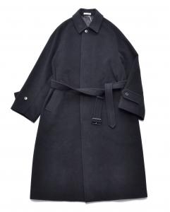 AURALEE 「 CASHMERE WOOL MOSSER SOUTIEN COLLAR COAT / BLACK 」