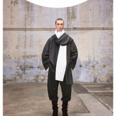 """HED MAYNER 「AW21_S53_GRY  """"SCARF COLLAR SHIRT""""」"""