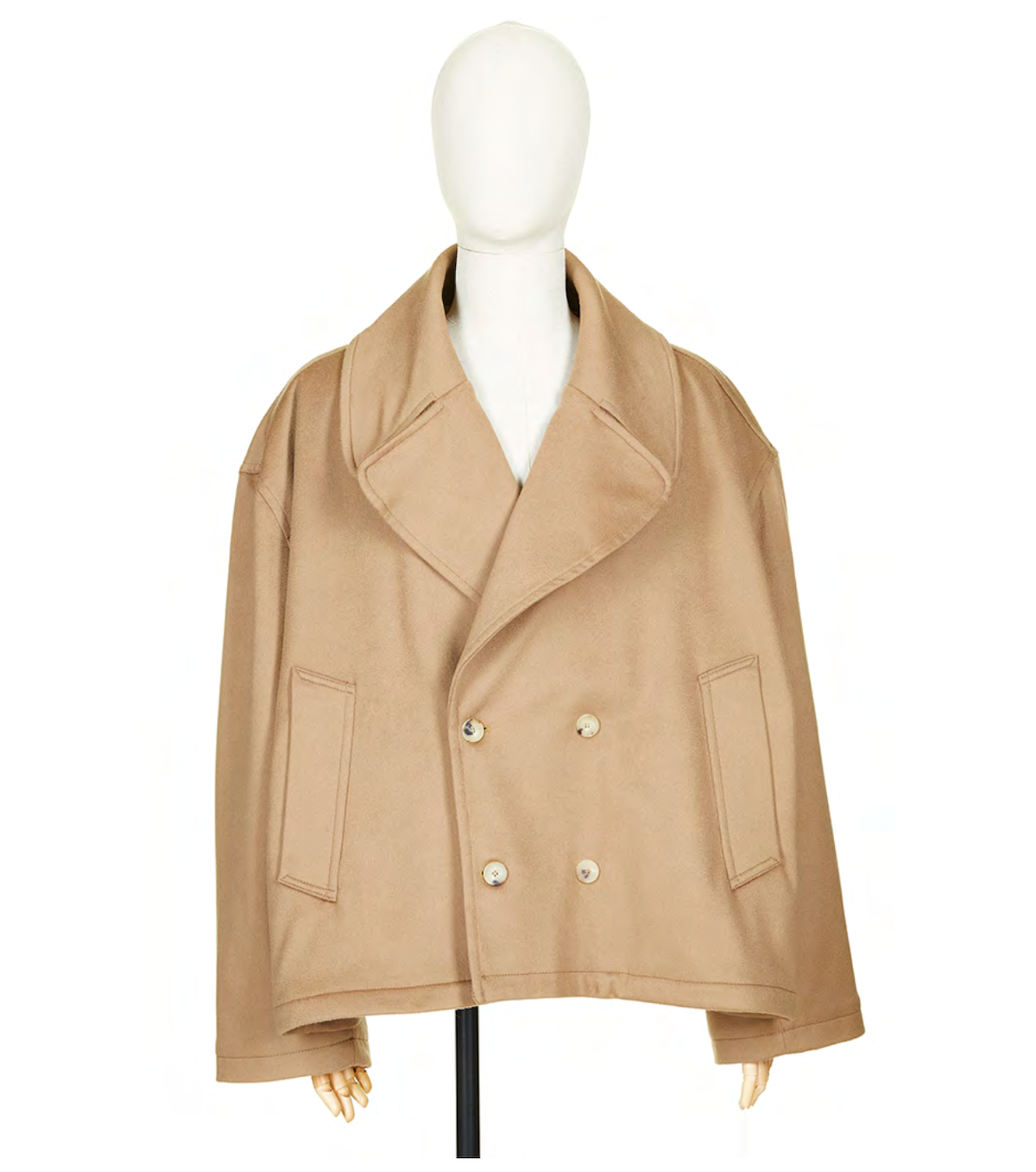 """HED MAYNER 「 AW21_O34CML/WO  """"CROPPED PEA COAT""""」"""